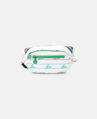 Stella McCartney sport bum bag with rainbow logo tape