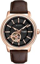Bulova 97a109 Brown Strap Watch