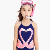 J.Crew Girls' one-piece swimsuit in kissing flamingos