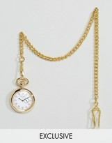 Reclaimed Vintage Gold Pocket Watch With Subdial