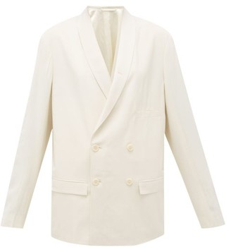 Lemaire Double-breasted Crepe Blazer - Womens - Ivory