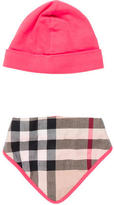 Burberry Girls' Cap & Bib Set