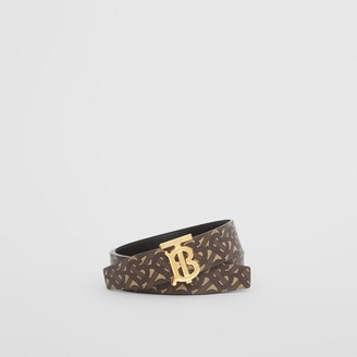 Burberry Reversible Monogram E-canvas and Leather Belt