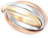 Macy's Tri-Tone Ring in 14k Rose, Yellow and White Gold