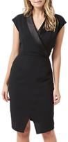 Sugarhill Boutique Amity Tuxedo Dress, Black
