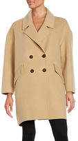 Diane von Furstenberg Roma Double Breasted Boyfriend Coat