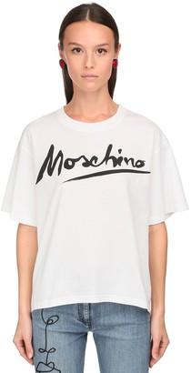 Moschino Signature Print Cotton Jersey T-Shirt
