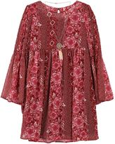 Speechless Girls 7-16 & Plus Size Bell Sleeve Printed Dress with Necklace