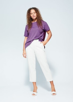 MANGO Rolled-up sleeves t-shirt