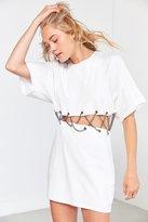 Silence & Noise Silence + Noise Lattice Chain T-Shirt Dress