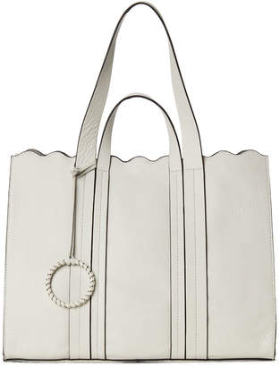 Vince Camuto Scalloped Leather Tote