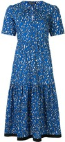 Markus Lupfer geometric patterned midi dress