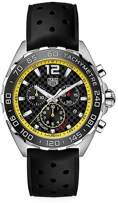 Tag Heuer Formula 1 Stainless Steel & Rubber Strap Chronograph Watch