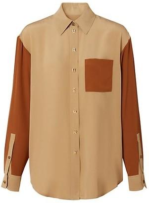 Burberry Juliette Mulberry Silk Shirt