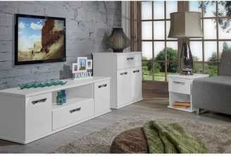 Swift Neptune Ready Assembled High Gloss Compact Sideboard - White