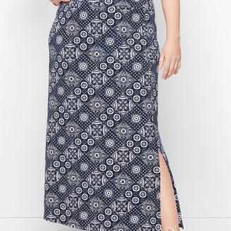 Talbots Jersey Wrap Maxi Skirt - Bandana Print