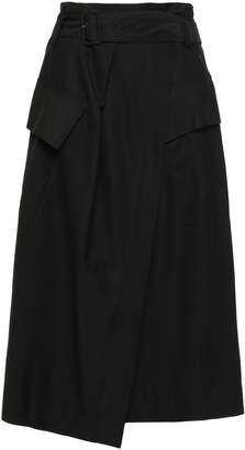 Vince Twill Midi Wrap Skirt