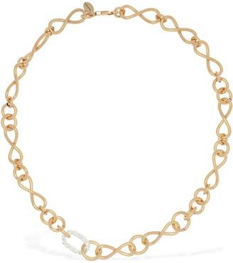 Magda Butrym Bacopa Short Necklace W/ Crystal Detail