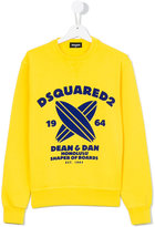 DSQUARED2 teen surfboard sweatshirt - kids - Cotton - 14 yrs