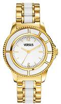 Versace Versus Women's Quartz Watch with White Dial Analogue Display and White Stainless Steel Bracelet AL13SBQ701 A071