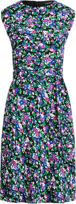 Ralph Lauren Georgette Cap-Sleeve Dress