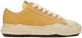 Thumbnail for your product : Miharayasuhiro Yellow Over-Dyed OG Sole Peterson Sneakers
