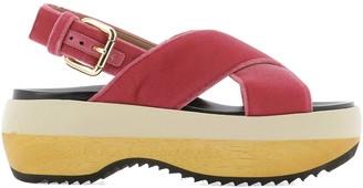 Marni Crossover Platform Sandals