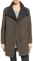 Elie Tahari Double Face Wool Swing Coat