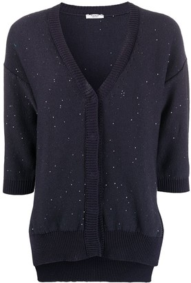 Peserico Sequinned Slouchy Cardigan