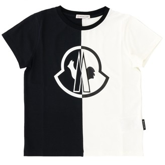 Moncler Short-sleeved T-shirt With Two-tone Big Logo
