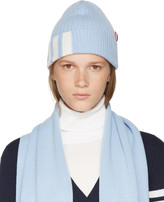 Thom Browne Blue Rib Cashmere Four Bar Beanie