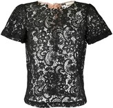 Semi-Couture Semicouture sheer lace T-shirt