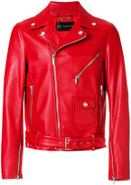 Versace classic biker jacket - men - Cotton/Lamb Skin/Cupro - 48