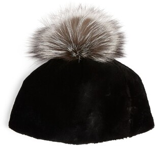 Canadian Hat Fox Fur Pom-Pom Beanie