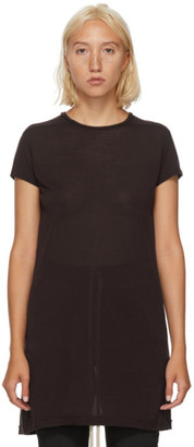 Rick Owens Burgundy Silk Level T-Shirt