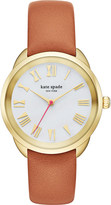 Kate Spade KSW1063 Crosstown gold and leather watch
