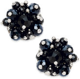 INC International Concepts Silver-Tone Jet Stone Cluster Flower Stud Earrings, Only at Macy's
