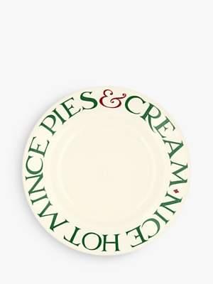 Emma Bridgewater Christmas Toast Mince Pies Plate, 22cm, White/Multi