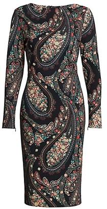 Etro Floral Paisley Jersey Midi Dress