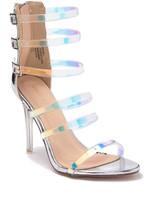Chase & Chloe Serene Clear Strappy Stiletto Sandal
