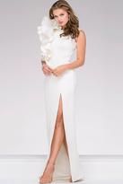 Jovani Elegant Scuba High Slit Prom Dress 49868