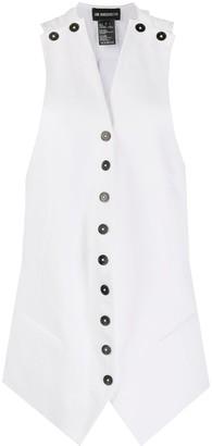 Ann Demeulemeester Cut-Out Detail Mid-Length Waistcoat