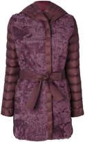 Cara Mila Debra Shearling Belted Coat