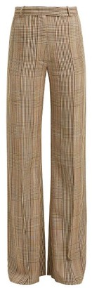 Golden Goose Checked High Rise Trousers - Womens - Beige Multi