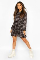 boohoo Polka Dot Smock Dress
