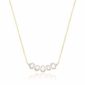 Lily & Roo Gold Pearl Cluster Necklace