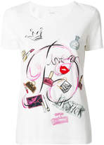 Blumarine make-up graphic T-shirt