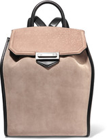 Alexander Wang Prisma paneled suede backpack