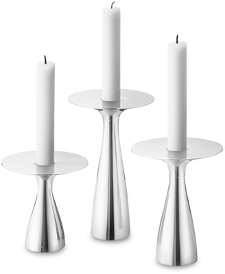Georg Jensen Alfredo 3-Piece Stainless Steel Candle Holder Set