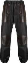 Gr Uniforma panelled faux-leather trousers